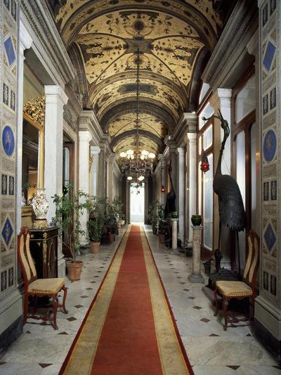 Mezzanine Corridor of Villa Malfitano Whitaker, Palermo, Sicily--Giclee Print