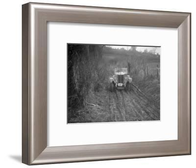 MG 18 - 80 of D Munro competing in the MG Car Club Trial, Kimble Lane, Chilterns, 1931-Bill Brunell-Framed Photographic Print