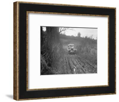 MG 18 - 80 of N Chichester-Smith competing in the MG Car Club Trial, Kimble Lane, Chilterns, 1931-Bill Brunell-Framed Photographic Print