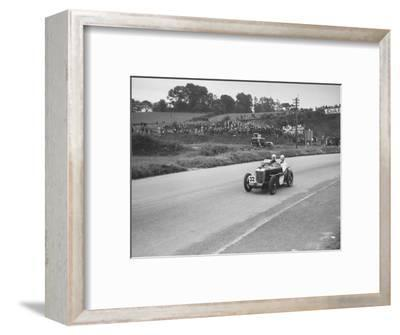 MG C type Midget of Goldie Gardner competing in the RAC TT Race, Ards Circuit, Belfast, 1932-Bill Brunell-Framed Photographic Print