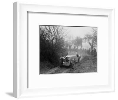 MG F type of GF Horan at the Sunbac Colmore Trial, near Winchcombe, Gloucestershire, 1934-Bill Brunell-Framed Photographic Print