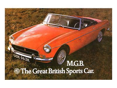 MG - Great British Sports Car--Art Print