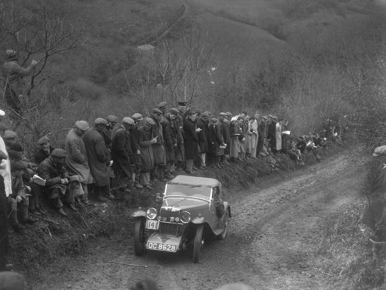 MG J2 of GN Mansell competing in the MCC Lands End Trial, 1935-Bill Brunell-Photographic Print