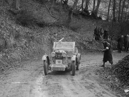 MG M Type 12 - 12 replica of Viscount Curzon, MG Car Club Trial, Waterworks Hill, Tring, 1931-Bill Brunell-Photographic Print