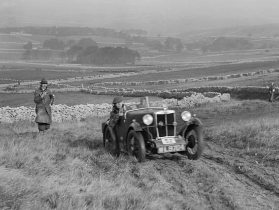 MG M type of J Easonsmith competing in the MCC Sporting Trial, 1930-Bill Brunell-Photographic Print