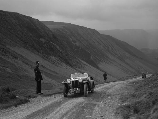 MG PA competing in the MG Car Club Abingdon Trial/Rally, 1939-Bill Brunell-Photographic Print
