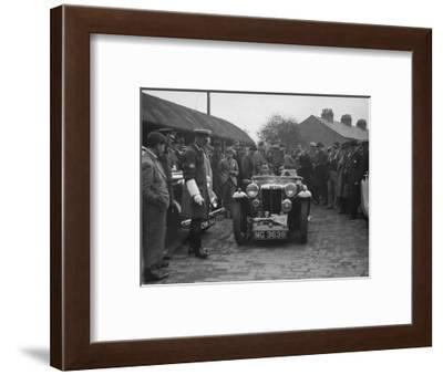 MG PA of AC Sears at the RAC Rally, 1939-Bill Brunell-Framed Photographic Print