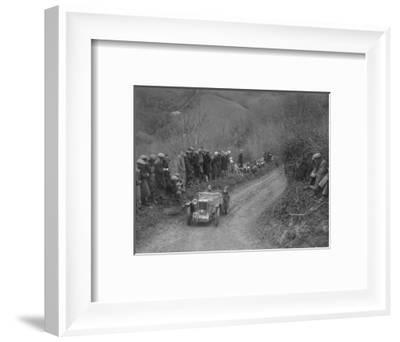 MG PA of Jack Bastock of the Cream Cracker Team competing in the MCC Lands End Trial, 1935-Bill Brunell-Framed Photographic Print