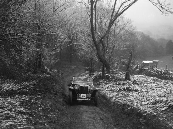 MG PB taking part in a motoring trial, late 1930s-Bill Brunell-Photographic Print