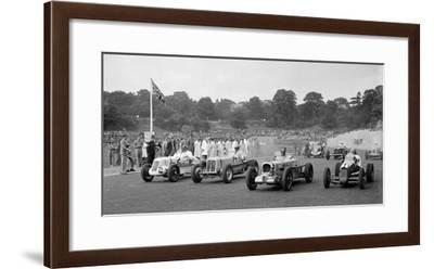 MG R type of Bill Esplen, ERA of Geg Parnell and MG of H Stuart-Wilton, Crystal Palace, 1939-Bill Brunell-Framed Photographic Print