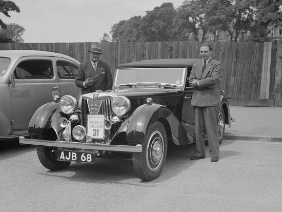 MG SA of AC Hess at the South Wales Auto Club Welsh Rally, 1937-Bill Brunell-Photographic Print