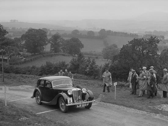 MG VA of RK Wellsteed competing in the South Wales Auto Club Welsh Rally, 1937-Bill Brunell-Photographic Print