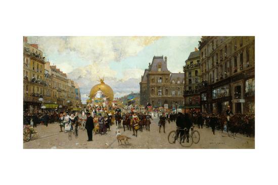 Mi-carême à Paris-Luigi Loir-Giclee Print