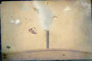 Smoke Stack and Flying Sheep by Mia Friedrich