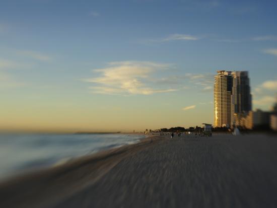 Miami Beach at Twilight-Raul Touzon-Photographic Print