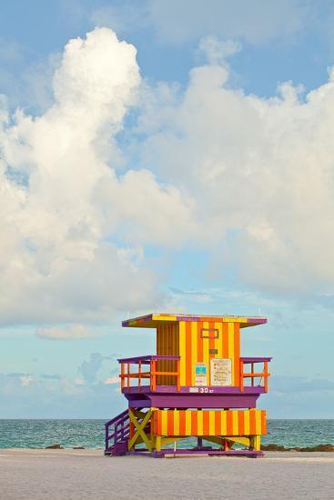 Miami Beach Florida Lifeguard House-Fotomak-Photographic Print