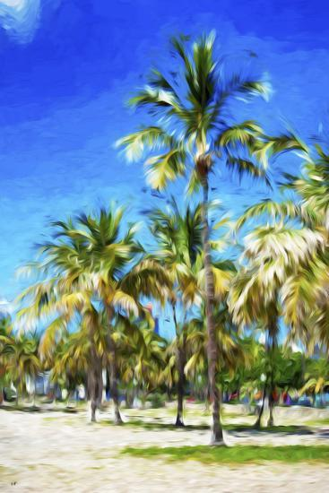 Miami Beach III - In the Style of Oil Painting-Philippe Hugonnard-Giclee Print