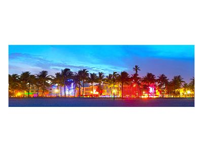 Miami Beach Sunset Ocean Drive--Art Print