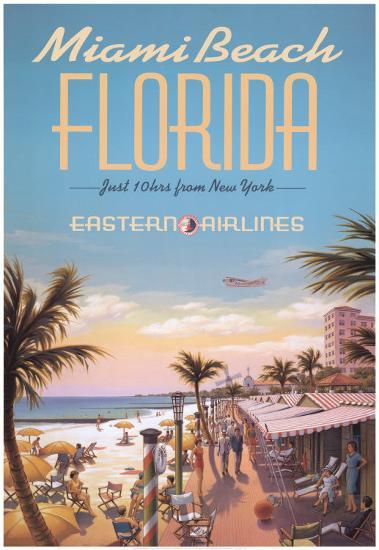 Miami Beach-Kerne Erickson-Art Print