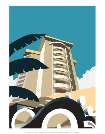 Miami Blank - Dave Thompson Contemporary Travel Print-Dave Thompson-Art Print