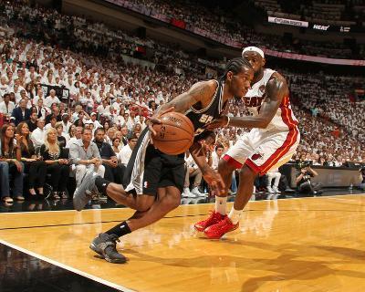 Miami, FL - June 20: Kawhi Leonard and LeBron James-Issac Baldizon-Photo