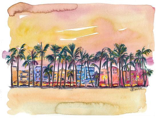 Miami Florida Ocean Drive-Markus Bleichner-Art Print