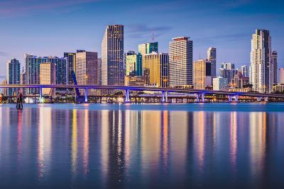 Miami, Florida, USA Downtown Skyline at Dawn.-SeanPavonePhoto-Photographic Print