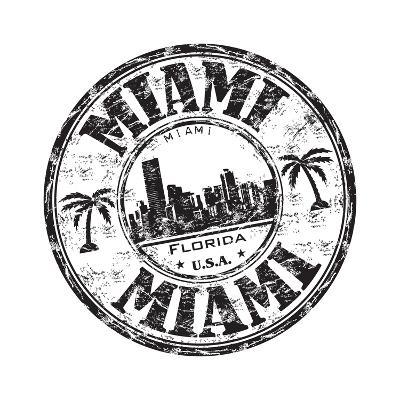 Miami Grunge Rubber Stamp-oxlock-Art Print
