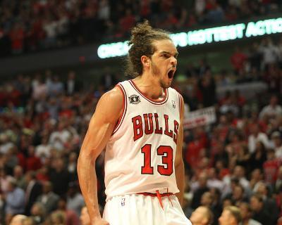 Miami Heat v Chicago Bulls - Game Five, Chicago, IL - MAY 26: Joakim Noah-Jeyhoun Allebaugh-Photo