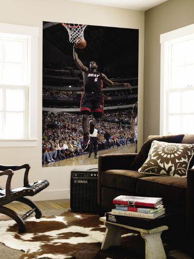 Miami Heat v Dallas Mavericks: LeBron James-Glenn James-Wall Mural