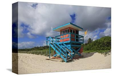 Miami Lifeguard Station--Stretched Canvas Print