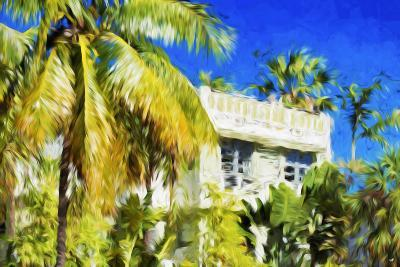 Miami Palms - In the Style of Oil Painting-Philippe Hugonnard-Giclee Print