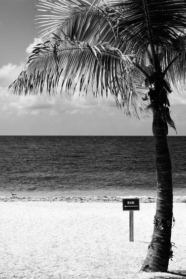 Miami Sign on the Beach - Florida-Philippe Hugonnard-Photographic Print