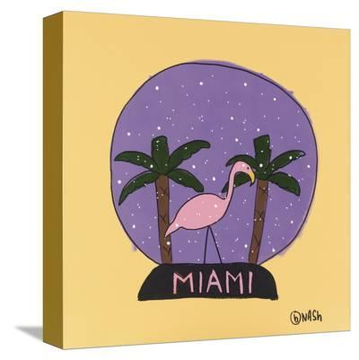 Miami Snow Globe-Brian Nash-Stretched Canvas Print