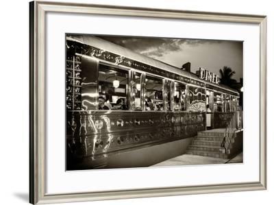 Miami South Beach and Art Deco - Diner Restaurant - Florida - USA-Philippe Hugonnard-Framed Photographic Print
