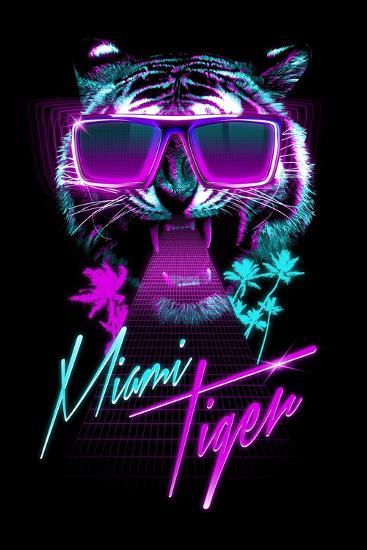 Miami Tiger-Robert Farkas-Art Print