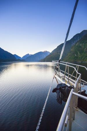 New Zealand's Remote Doubtful Sound. an Morning Sunrise in the Area