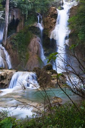 The Kuang Si Waterfalls Just Outside of Luang Prabang, Laos