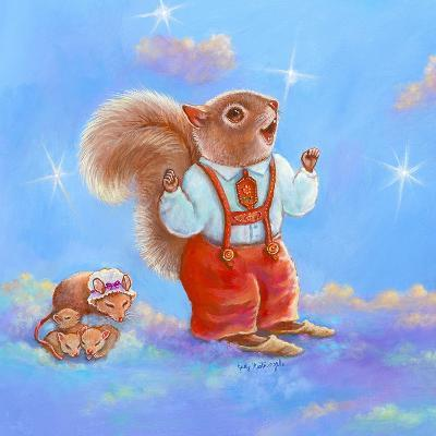 Mice, Squirrel and Bunny family in Clouds I-Judy Mastrangelo-Giclee Print