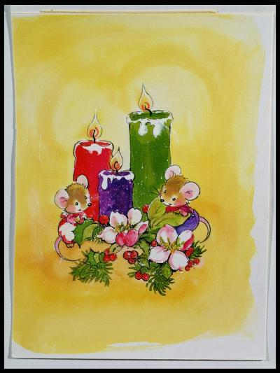 Mice with Candles-Diane Matthes-Giclee Print