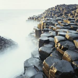 Fog at Basalt Columns of Giants Causeway by Micha Pawlitzki