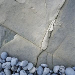 Gray Pebbles and Boulder by Micha Pawlitzki