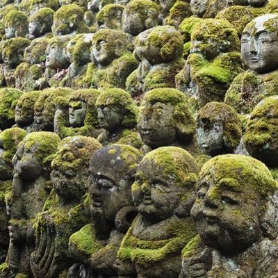 Jizo Figures at Shrine in Kyoto