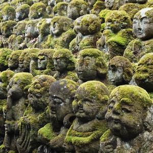 Jizo Figures at Shrine in Kyoto by Micha Pawlitzki