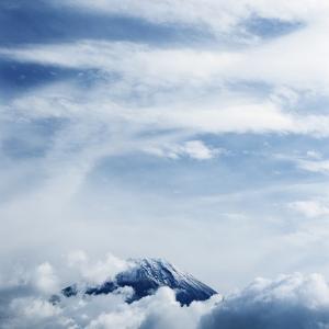 Mount Fuji with Clouds by Micha Pawlitzki