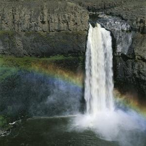 Rainbow Caused by Waterfall by Micha Pawlitzki