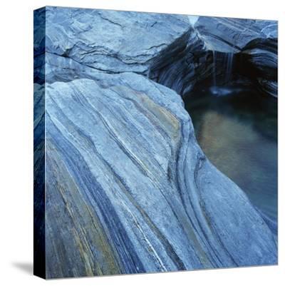 Strata in Rock Formation Along Verzasca River