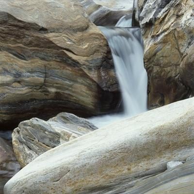 Waterfall in Verzasca Valley