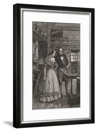 Michael and Mrs. Faraday Observing Experiment--Framed Giclee Print
