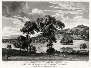Chatsworth in Derbyshire, the Seat of His Grace the Duke of Devonshire, 1775 by Michael Angelo Rooker